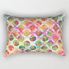 Rainbow Geometric Party Rectangular Pillow