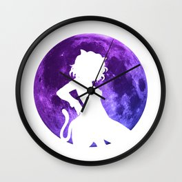 Anime Moon Inspired Design Wall Clock