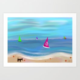 In the Pink in a Tropical Paradise Art Print