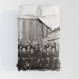 World-Renowned Physicists of 1927 at Solvay Conference Comforters