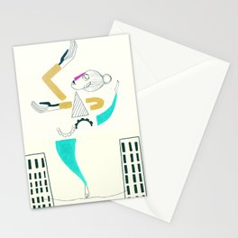 The air dancer-white version Stationery Cards