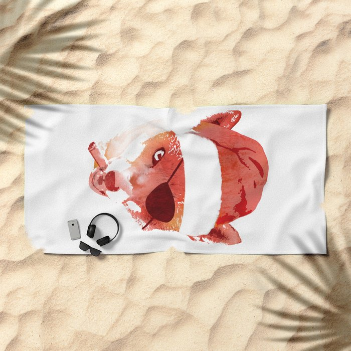 Bad Santa Fox Beach Towel