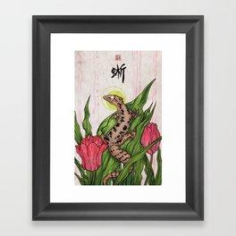 Mourning Gecko Framed Art Print