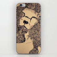 lions iPhone & iPod Skins featuring Lions by Zora Chen