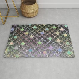 Mermaid scales ombre glitter #2 Rug