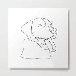 Happy Labrador Metal Print