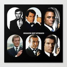 007 Meet 007 & 007 & 007, 007 Bond Canvas Print