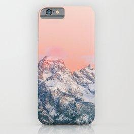 Alpenglow Mountain Sunset iPhone Case