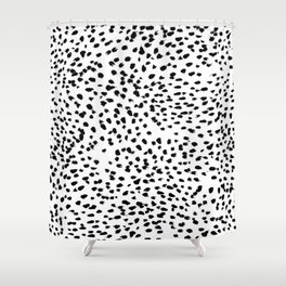 Dalmat-b&w-Animal print I Shower Curtain