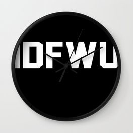 IDFWU Wall Clock