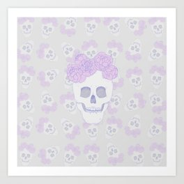 Crown of Peonies (pattern) Art Print