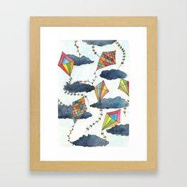 Kites Skies Framed Art Print