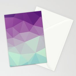 violet and blue polygon Stationery Cards