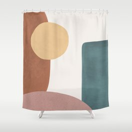 Abstract Earth 1.1 - Painted Shapes Shower Curtain
