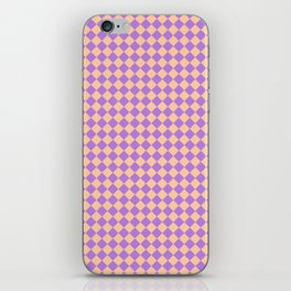 Deep Peach Orange and Lavender Violet Diamonds iPhone Skin