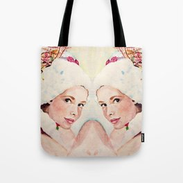 pretty face reflected Tote Bag