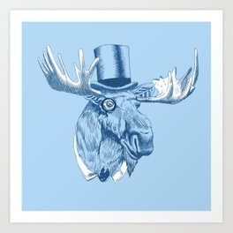 Chivalrous Moose Art Print