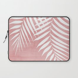 Pink Paint Stroke of Palm Leaves Laptop Sleeve