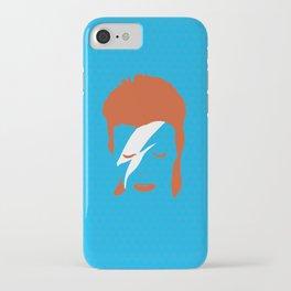 Ziggy Stardust - Blue iPhone Case