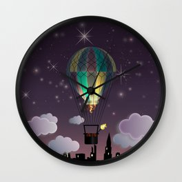 Balloon Aeronautics Night Wall Clock