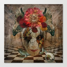 Venetian Mask in Fantasy World Canvas Print