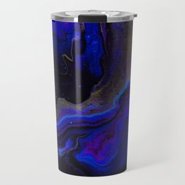 Dark Purple Blue Galaxy - Midnight Shades Travel Mug