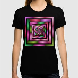 Colorful Tunnel 1 Digital Art Graphic T-shirt