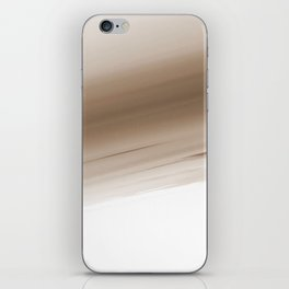 Beige Ivory Ombre iPhone Skin