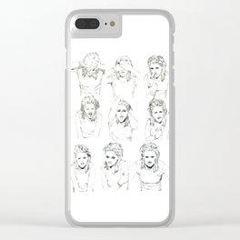 Kristen Stewart Sketches Clear iPhone Case
