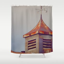 Rusted Rooftop Shower Curtain
