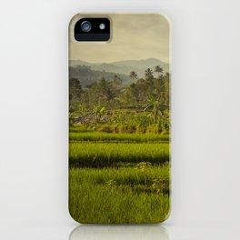 Balapusuh Village Rice Paddies iPhone Case