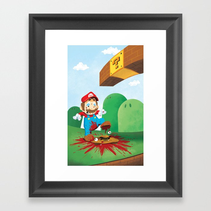 Mario Mess Framed Art Print
