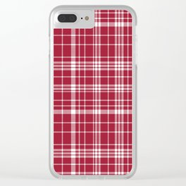 Bama crimson tide college state pattern print university of alabama varsity alumni gifts plaid Clear iPhone Case
