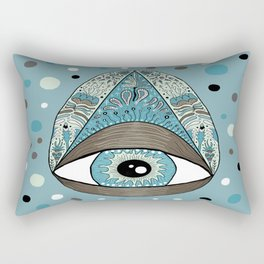 pysanky eye egg, blue green brown white black Rectangular Pillow