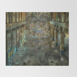 Apocalyptic Vision of the Sistine Chapel Rome 2020 Throw Blanket