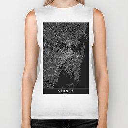 Sydney Black Map Biker Tank