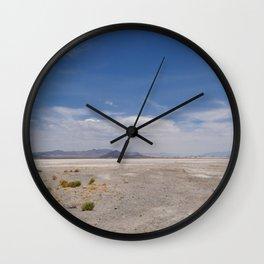 Zzyzx Salt Flat / Soda Lake Wall Clock