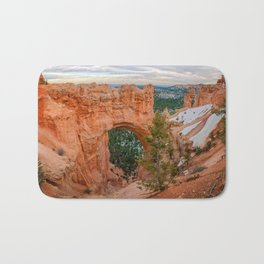 Natural Bridge Panorama at Bryce Canyon National Park Bath Mat