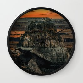 The World on my back. Wall Clock