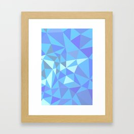 Blue compsition with tiangles Framed Art Print