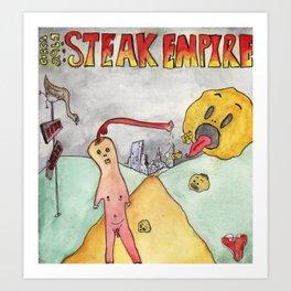 Steak World I Art Print