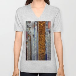 Abstract Glass Unisex V-Neck
