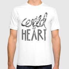 WILD AT HEART MEDIUM White Mens Fitted Tee