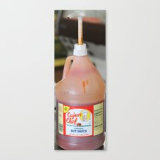 shrimp and hot sauce Canvas Print