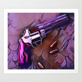 The Wheel Gun Art Print