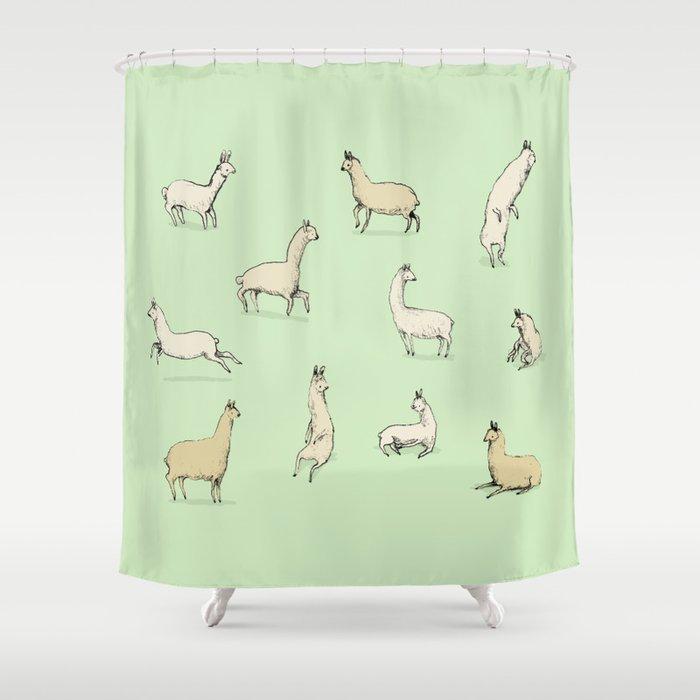 Llamas Shower Curtain By Sophiecorrigan