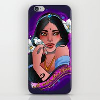 jasmine iPhone & iPod Skins featuring Jasmine by Little Lost Forest