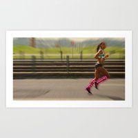 run Art Prints featuring Run by Sébastien BOUVIER