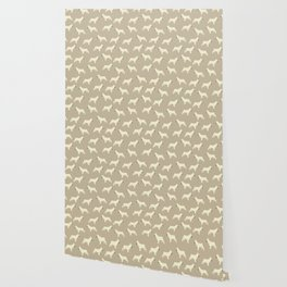 French Bull Dogs on Taupe Wallpaper