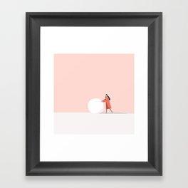 let's make snow man Framed Art Print